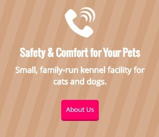 Safety & Comfort for Your Pets - Small, family-run kennel facility for cats and dogs. - About Us