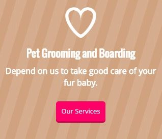 Pet Grooming and Boarding - Depend on us to take good care of your fur baby. - Our Services
